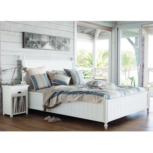Lit 160 x 200 cm en bois blanc
