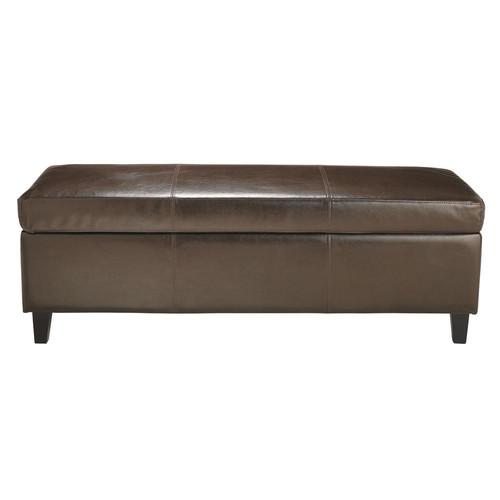 banc de lit en cuir