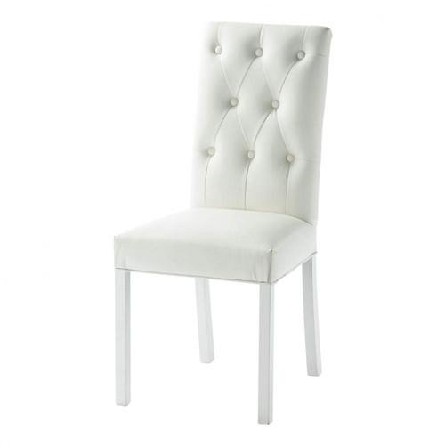 chaise capitonnee cuir