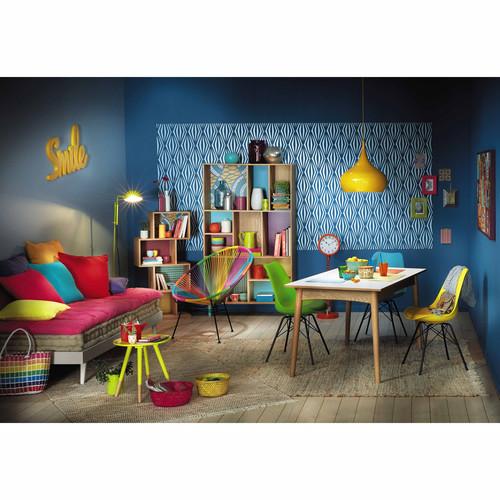 Bibliothèque en bois multicolore L 100 cm