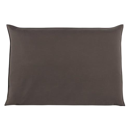 housse de t te de lit 160 taupe soft maisons du monde. Black Bedroom Furniture Sets. Home Design Ideas