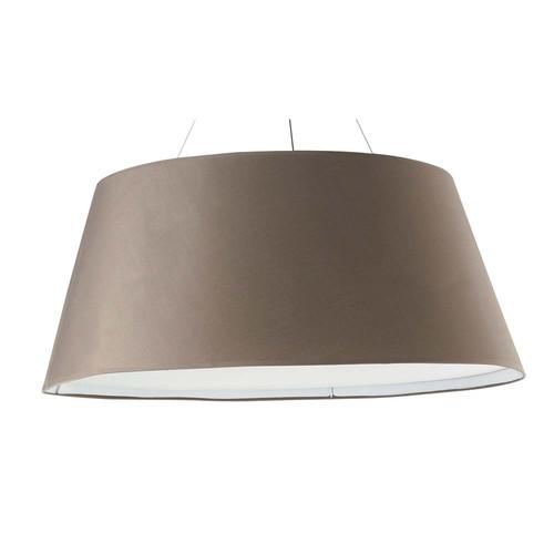 suspension tambour en toile taupe d 75 cm lison. Black Bedroom Furniture Sets. Home Design Ideas