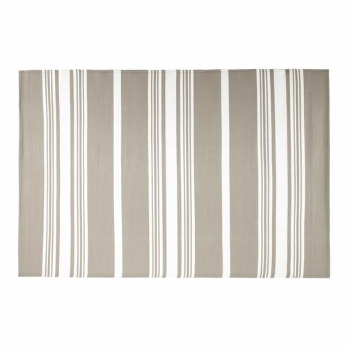 Tapis d 39 ext rieur en tissu beige 180 x 270 cm transat for Tissu pour transat exterieur