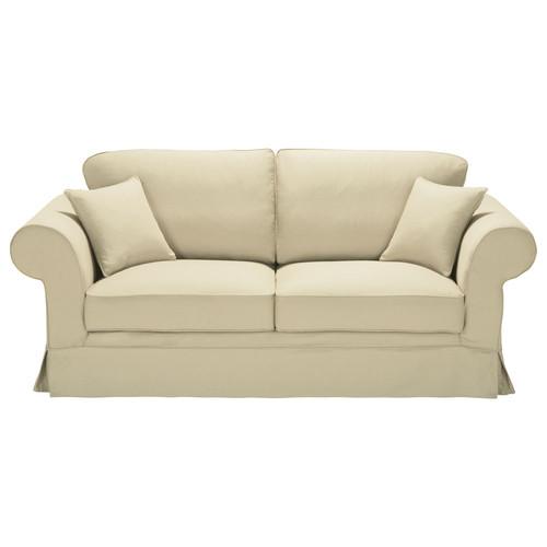 canap convertible 3 places en coton mastic victoria. Black Bedroom Furniture Sets. Home Design Ideas