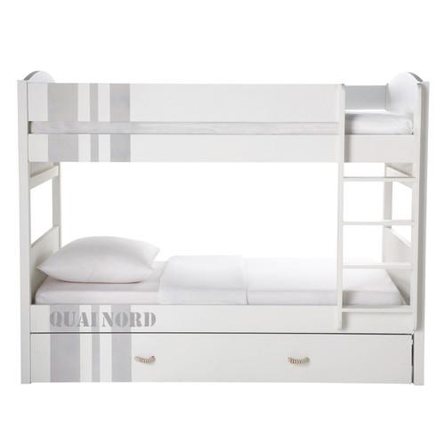 Lit Superpose En Bois Blanc : quai nord lit superpos? enfant 90 x 190 cm en bois blanc ce lit