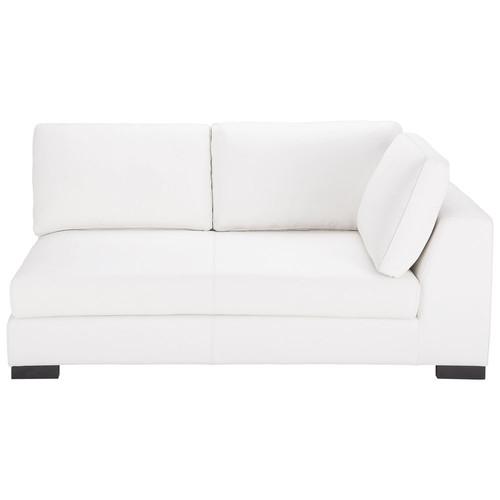 Canap modulable droit en cuir blanc terence maisons du monde - Chauffeuse cuir blanc ...