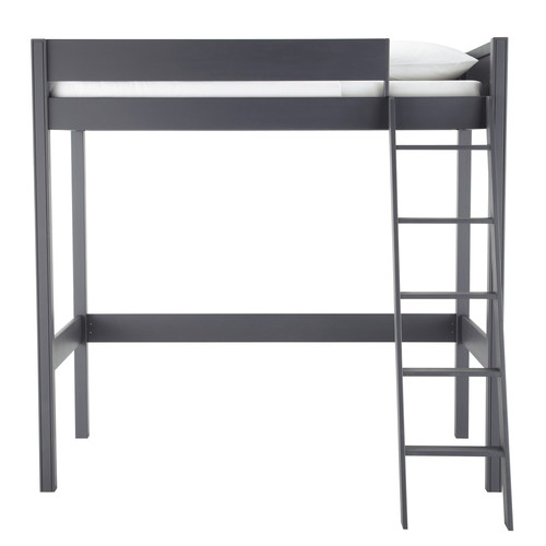 lit mezzanine 90 x 190 cm en bois gris newport maisons du monde. Black Bedroom Furniture Sets. Home Design Ideas