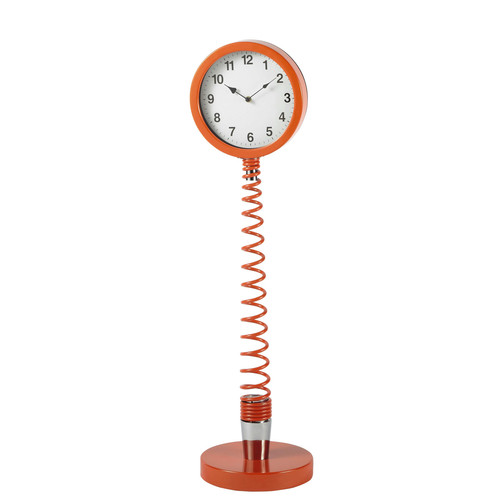 horloge sur pied flexible en m tal corail h 95 cm twiggy maisons du monde. Black Bedroom Furniture Sets. Home Design Ideas