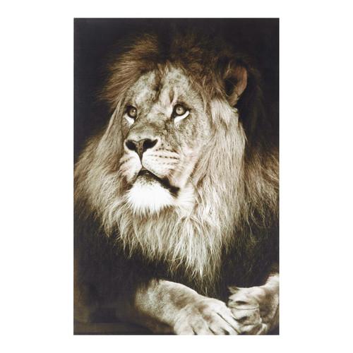 Toile lion katanga maisons du monde for Les lions du meuble