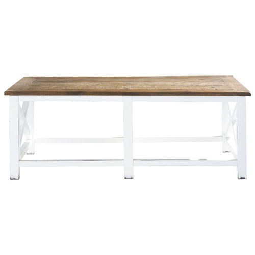 Table basse en bois recycl l 120 cm for Table basse bois recycle