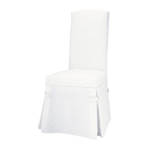 Housse de chaise lin blanc alice maisons du monde - Chaise blanche maison du monde ...