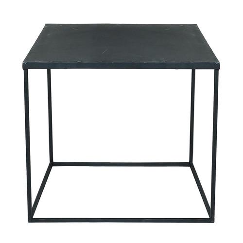 Couchtisch im IndustryStil aus Metall, B 45 cm, schwarz