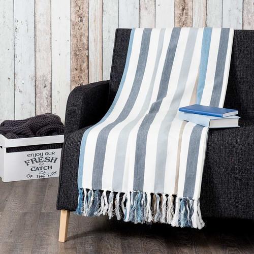 jet ray en coton 160 x 210 cm rivet. Black Bedroom Furniture Sets. Home Design Ideas