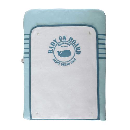 Matelas langer b b en coton bleu 52 x 70 cm marin for Table a langer 52 cm