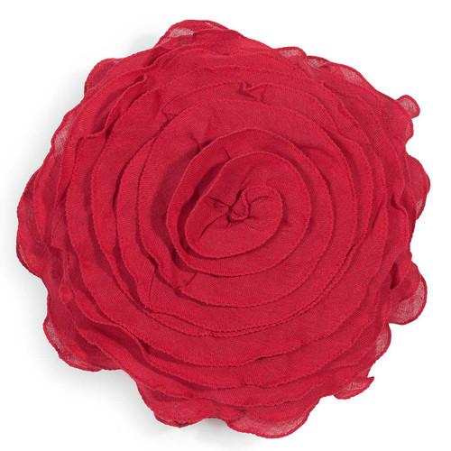 coussin rond en lin rouge d 30 cm maisons du monde. Black Bedroom Furniture Sets. Home Design Ideas