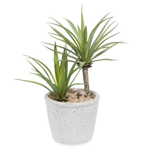 Yucca artificiel en pot h 24 cm maisons du monde for Yucca exterieur pot