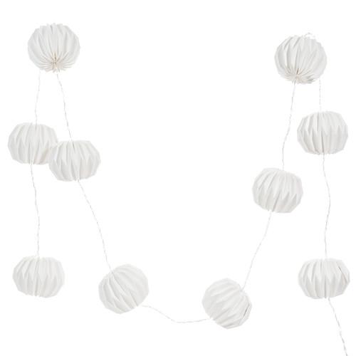 Guirlande lumineuse blanche l 165 cm stockholm maisons for Guirlande lumineuse blanche exterieur