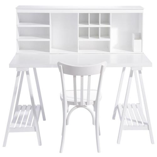 Bureau en bois blanc l 130 cm campus maisons du monde - Maison du monde bureau enfant ...