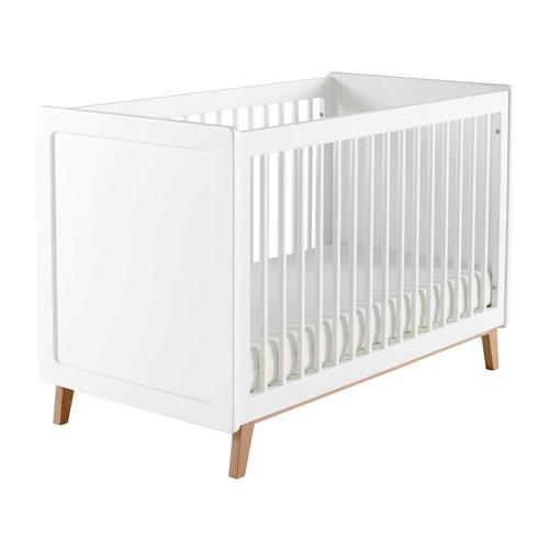 lit b b barreaux en bois blanc l 126 cm sweet maisons du monde. Black Bedroom Furniture Sets. Home Design Ideas