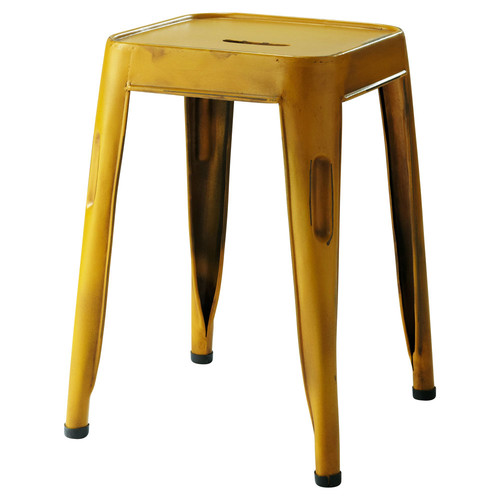 tabouret jaune jim maisons du monde. Black Bedroom Furniture Sets. Home Design Ideas