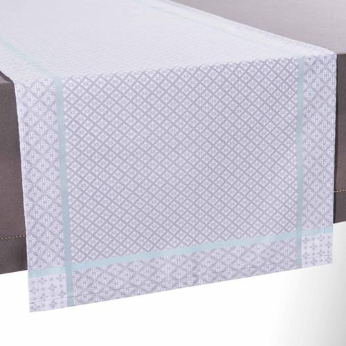 chemin de table en tissu gris l 150 cm lina maisons du monde. Black Bedroom Furniture Sets. Home Design Ideas