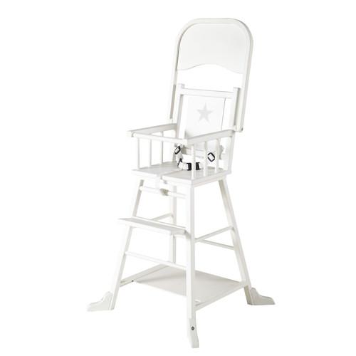 Chaise haute pour b b en bois blanche songe maisons du monde - Chaise haute blanche ...