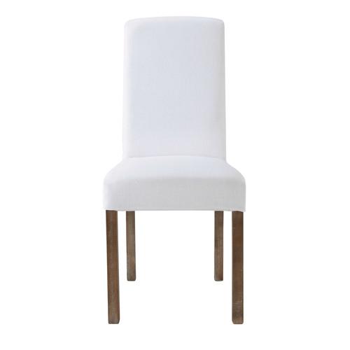 Housse de chaise en lin lav blanche margaux maisons du - Housse de chaise en lin ...