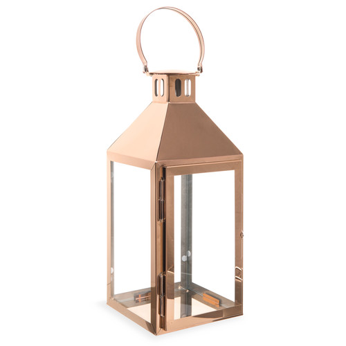 Lanterna in metallo ramato h 35 cm upper west side copper - Lanterne maison du monde ...