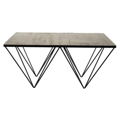 Table basse carr e en bois recycl et m tal l 100 cm - Table basse carree maison du monde ...