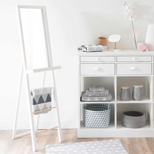 miroir psych en bois blanc h 160 cm white maisons du monde. Black Bedroom Furniture Sets. Home Design Ideas