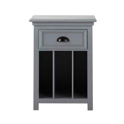 table de chevet grise. Black Bedroom Furniture Sets. Home Design Ideas