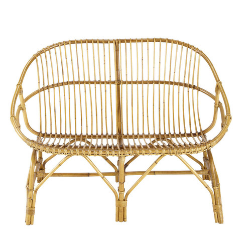 banquette 2 places vintage rotin p tunia maisons du monde. Black Bedroom Furniture Sets. Home Design Ideas