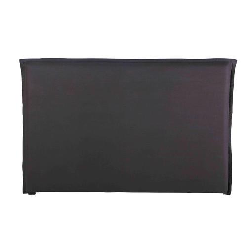 Housse de tête de lit 180 en lin lavé gris anthracite