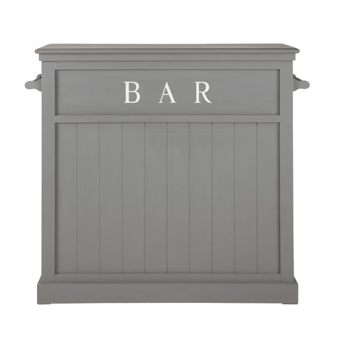 Meuble de bar en bois gris l 120 cm newport maisons du monde - Meuble de bar gordon ...