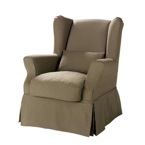 housse taupe cottage maisons du monde. Black Bedroom Furniture Sets. Home Design Ideas