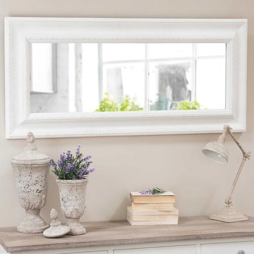 Miroir Bois Blanc : Miroir en bois blanc H 130 cm L?ONORE Maisons du Monde