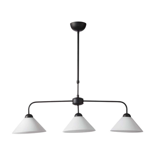 Suspension lub ron triple maisons du monde for Lustre suspension triple