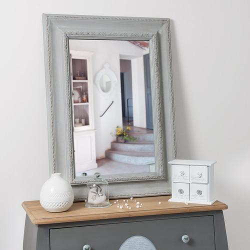 Miroir l onore gris 90x65 for Miroir 90x140