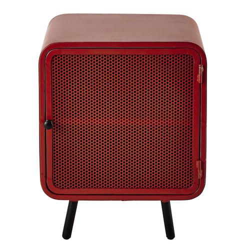 metal bedside table in red w 44cm knokke maisons du monde. Black Bedroom Furniture Sets. Home Design Ideas