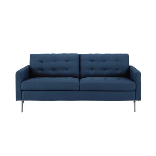 canap 2 3 places en tissu bleu nuit victor maisons du monde. Black Bedroom Furniture Sets. Home Design Ideas