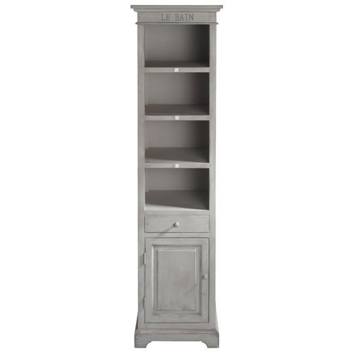 colonne en bouleau gris perle h 198 cm saint r my maisons du monde. Black Bedroom Furniture Sets. Home Design Ideas