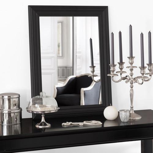 Miroir napoli noir 80x60 maisons du monde for Miroir 80x60