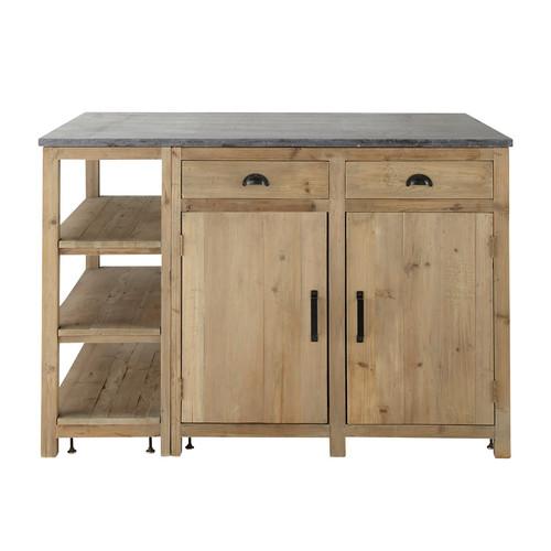 Kücheninsel Aus Recyclingholz, B 145 Cm Pagnol