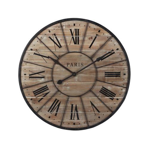 horloge en bois et m tal d 90 cm valmy maisons du monde. Black Bedroom Furniture Sets. Home Design Ideas