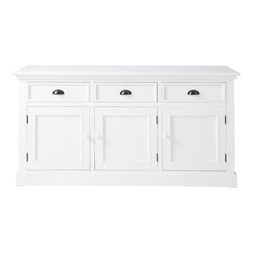 Buffet en bois blanc l 156 cm newport maisons du monde - Buffet bois et blanc ...