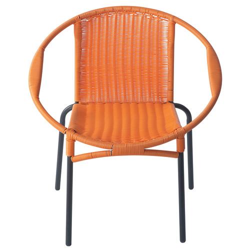 fauteuil de jardin rond orange rio maisons du monde. Black Bedroom Furniture Sets. Home Design Ideas