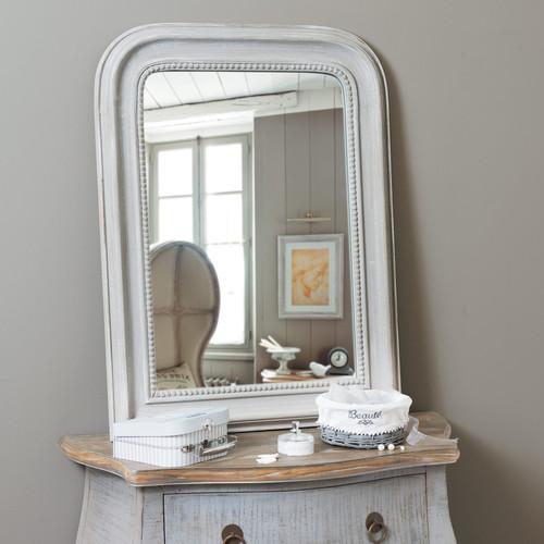 Miroir Bois Flotte Maison Du Monde : Miroir en bois gris H 80 cm EL?GANCE Maisons du Monde