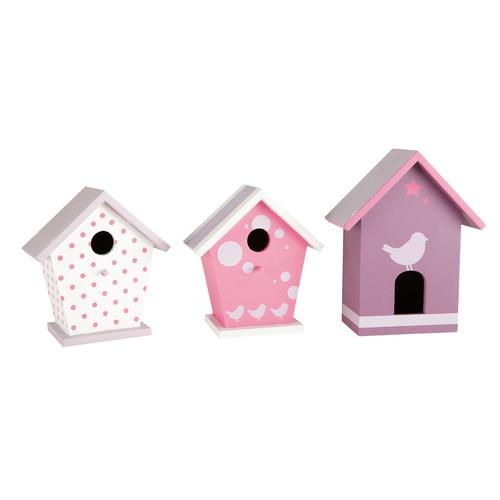 set van 3 sweety vogelhuisjes maisons du monde. Black Bedroom Furniture Sets. Home Design Ideas