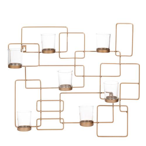bougeoir mural en m tal 43 x 50 cm ferao maisons du monde. Black Bedroom Furniture Sets. Home Design Ideas