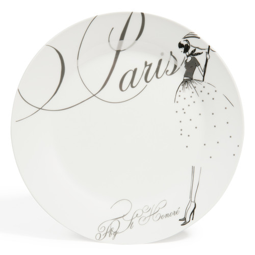 assiette plate en porcelaine blanche d 27 cm paris modeuse. Black Bedroom Furniture Sets. Home Design Ideas